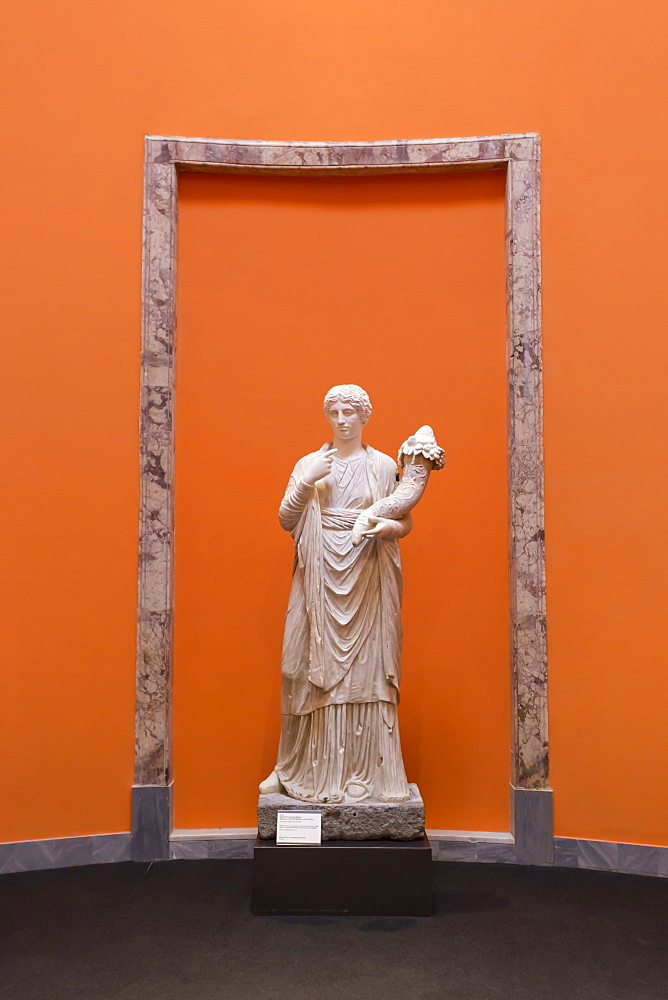 Statue of Concordia Augusta, from Pompeii, displayed at National Archaeological Museum, Naples, Campania, Italy, Europe