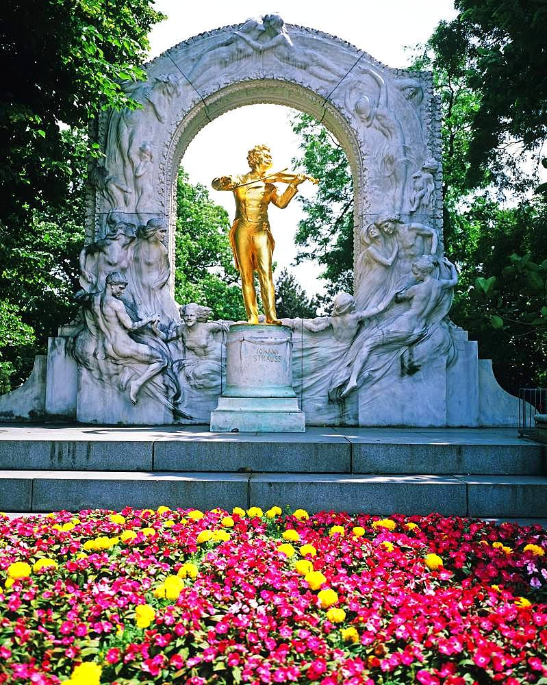 Statue Of Johann Strauss, Vienna, Austria
