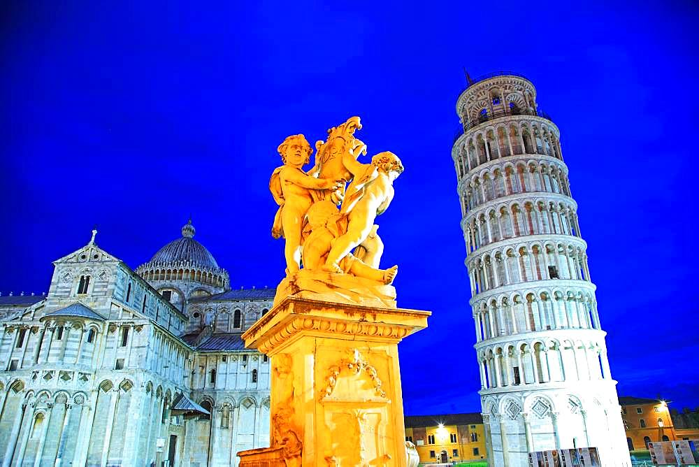 Italy, Toscany, Toscana, Pisa, Piazza del Duomo, The Leaning Tower of Pisa, UNESCO World Heritage