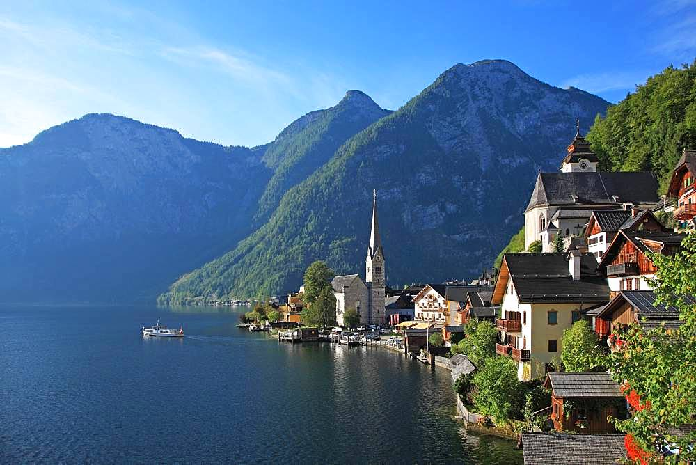 Austria, Salzkammergut, Hallstadt, UNESCO World Heritage Site