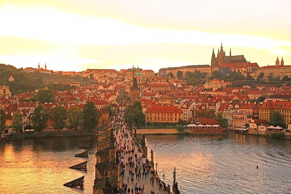Czech Republic, Historic Centre of Prague, UNESCO World Heritage Site, Prague Castle and Charles Bridge