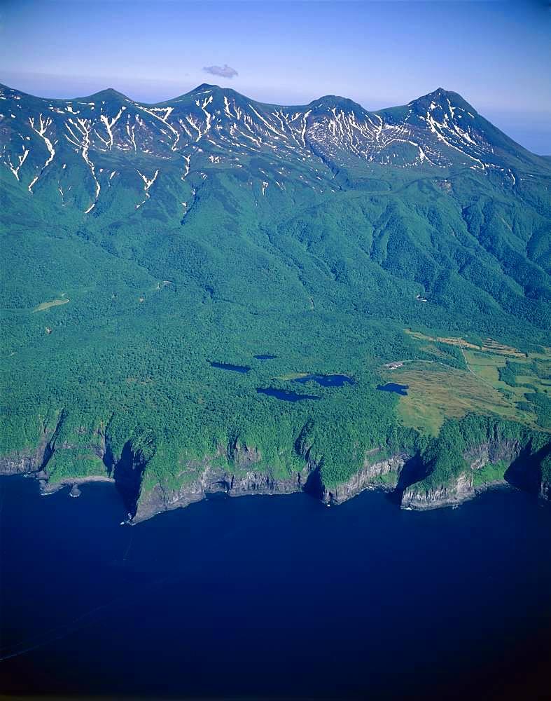 Utoro at Shiretoko Mountain Range, Hokkaido, Japan