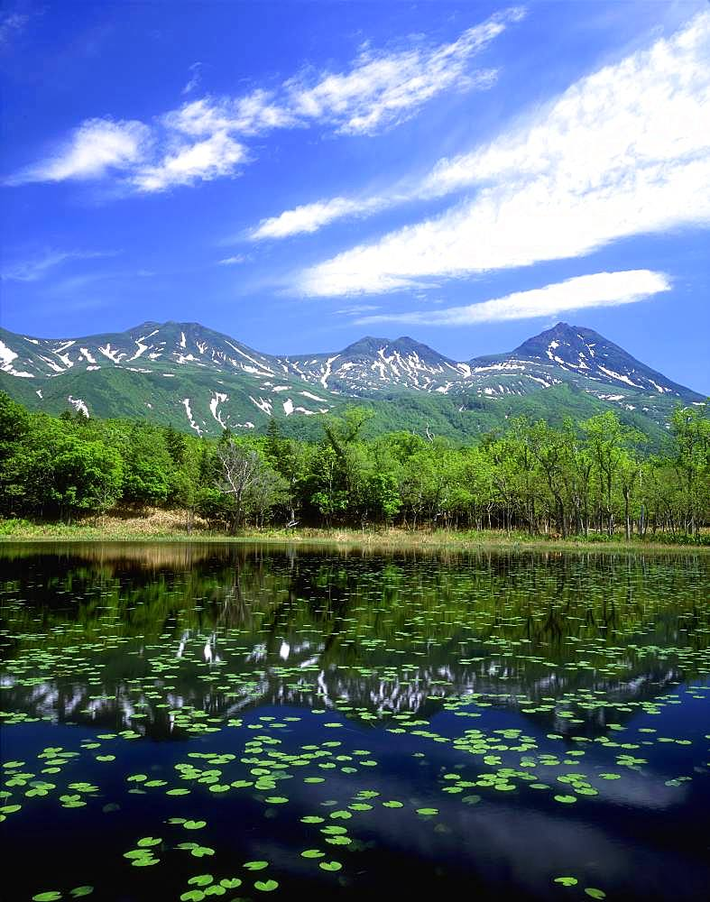 Shiretoko Mountain Range and Five Lakes, Hokkaido, Japan