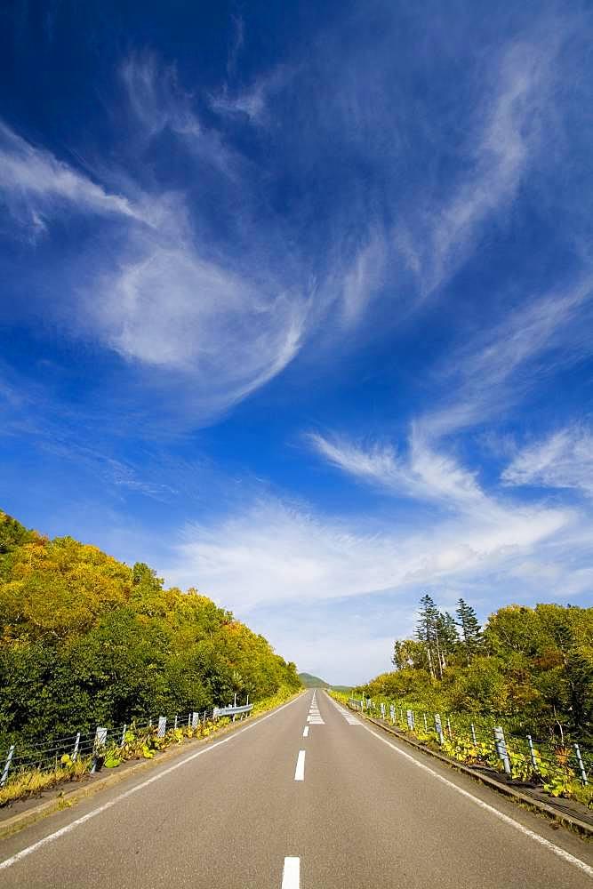 Shiretoko Mountain Pass, Hokkaido, Japan
