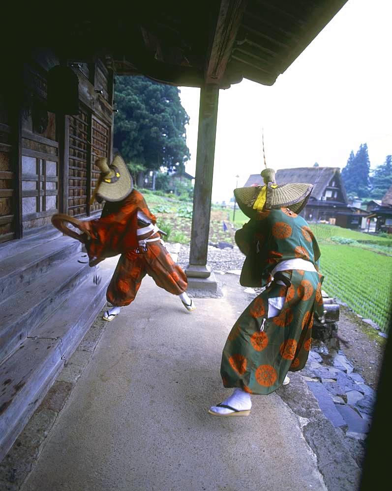 Kokiriko Dancing, Gokayama Village, Toyama Prefecture, Japan