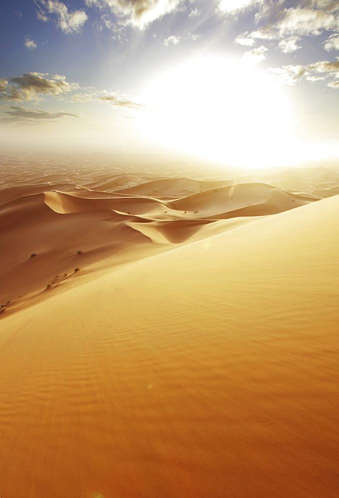 The sand dune desert Erg Chebbi, Morocco