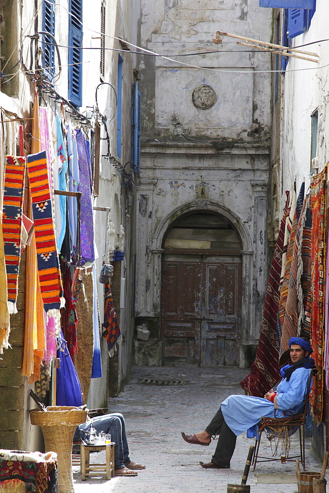 Souvenir shops in the old town of the former Portuguese colony, Essaouira, Morocco