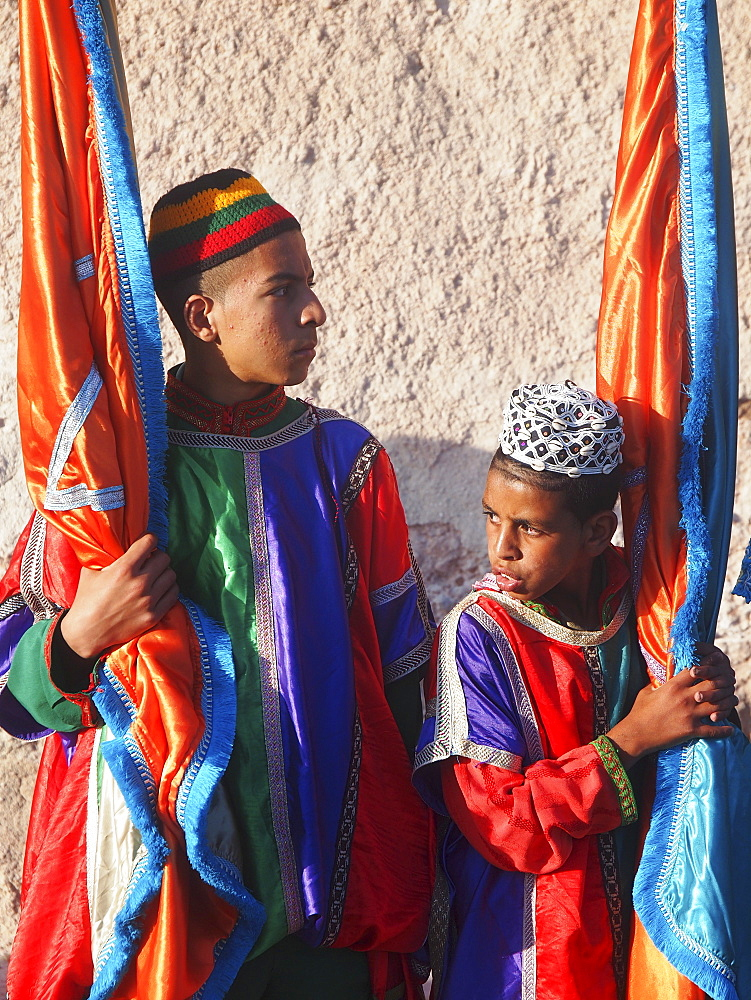 Children at the Gnaoua Festival (third weekend in June) in Essaouira, Morocco