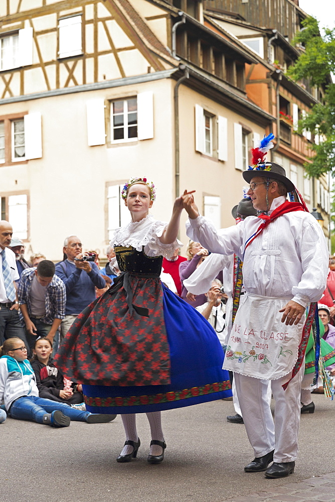 Folklore dancing in Colmar, Alsace