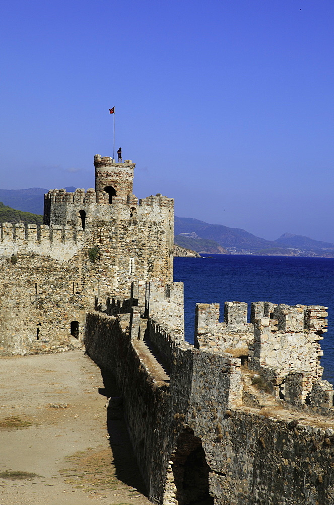 Tower of Mamure Castle in Anamur, Mersin Province, Turkey
