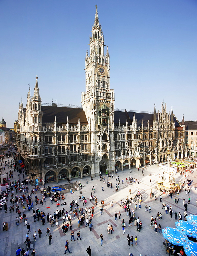The town hall on Marienplatz, Munich