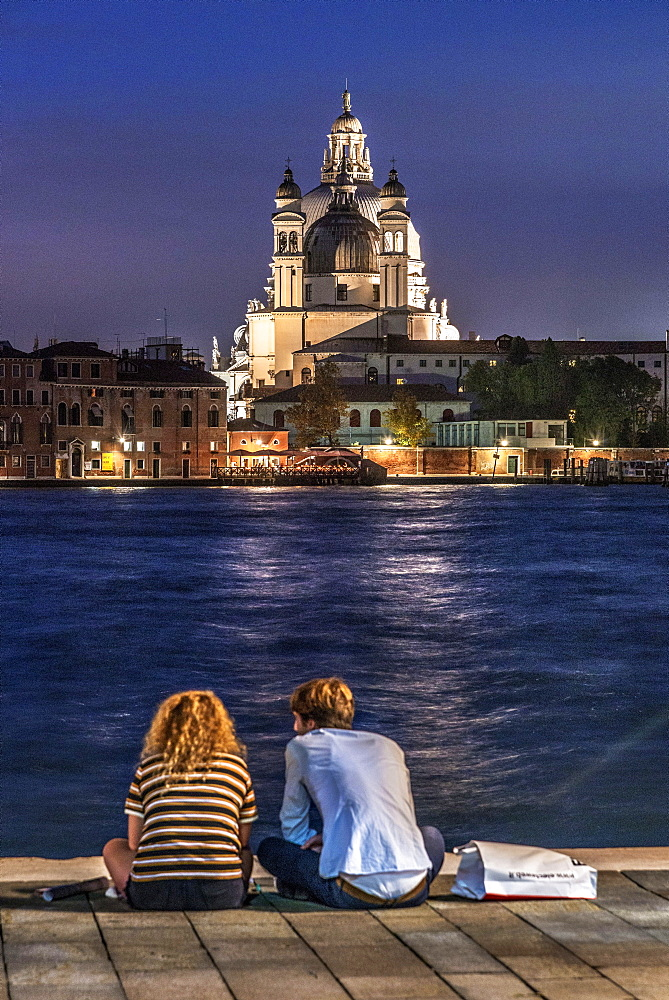 A view of the church of Santa Maria della Salute from Giudecca island off Venice, Italy