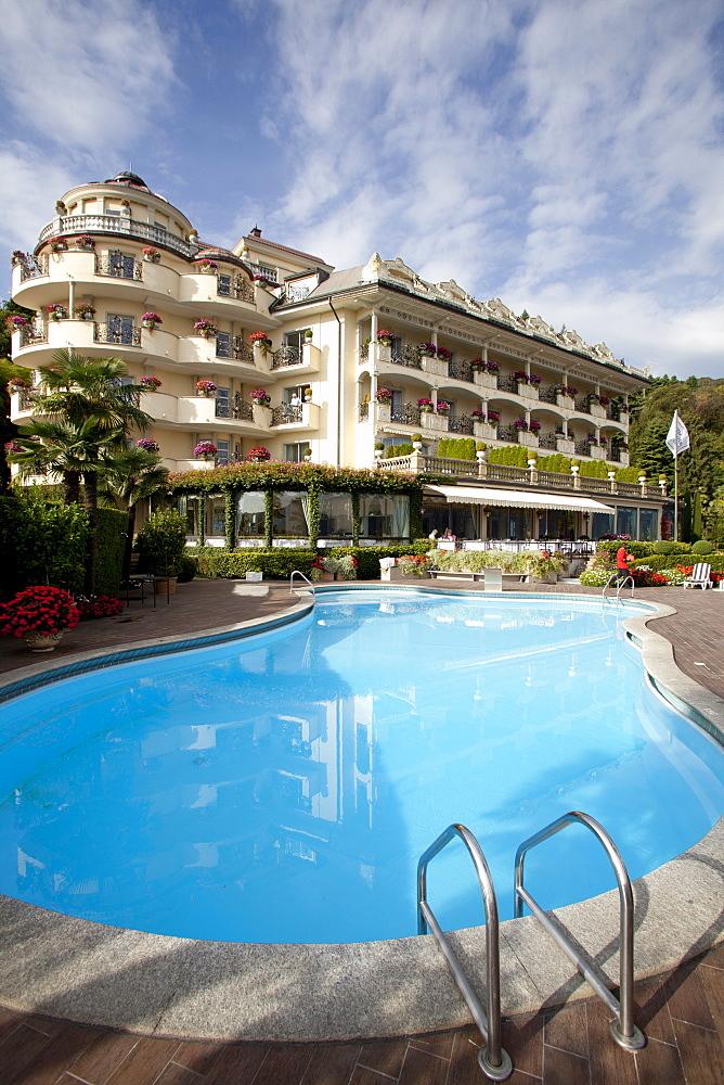 Swimming pool of Hotel Villa e Palazzo Aminta in Stresa, Italy