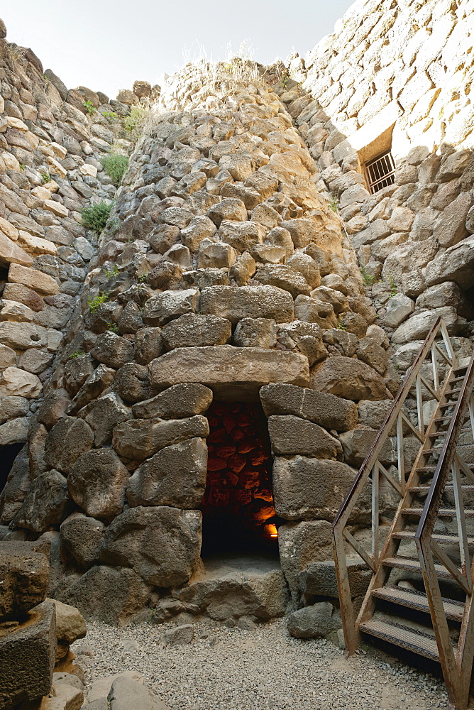 Cone shaped stone building in village Su Nuraxi, Barumini, Sardinia, Italy