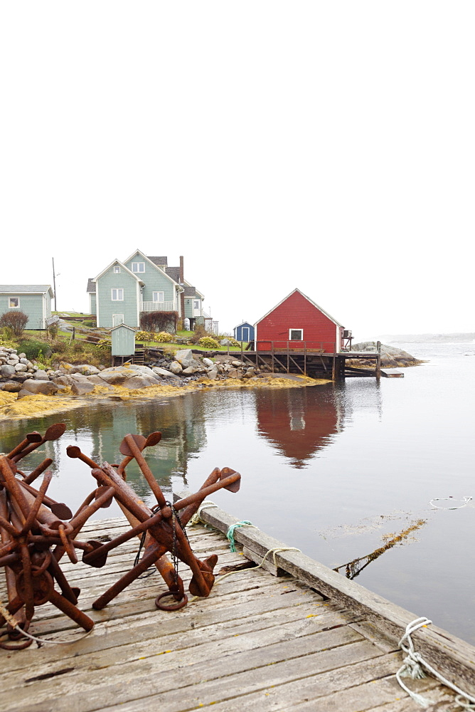 View of Peggy's Cove Fishing Village, Nova Scotia, Canada