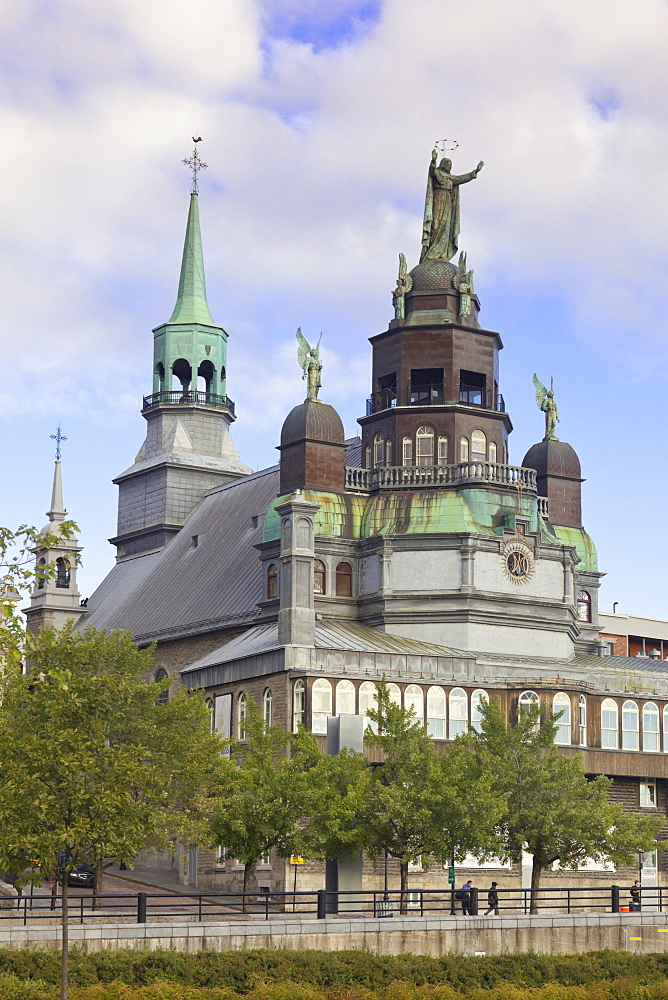 View of The Notre-Dame-de-Bon-Secours Chapel in Montreal, Canada