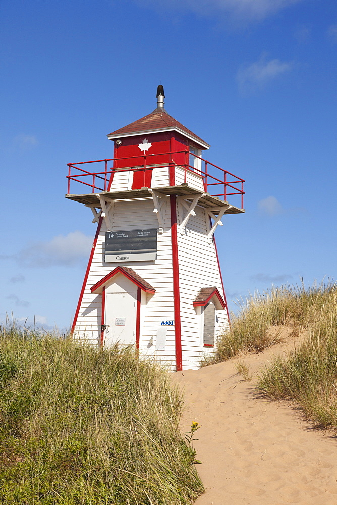 Lighthouse at Covehead in Prince Edward Island National Park, Canada