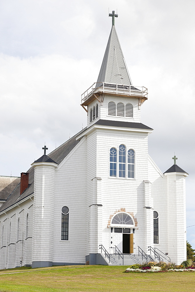 View of Church at Saint Peters Bay in Prince Edward Island, Canada