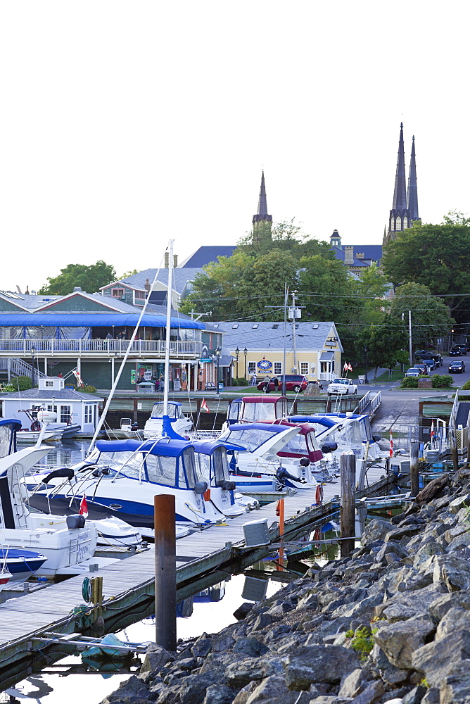 Moored boats at harbour in Prince Edward Island, Charlottetown, Germany
