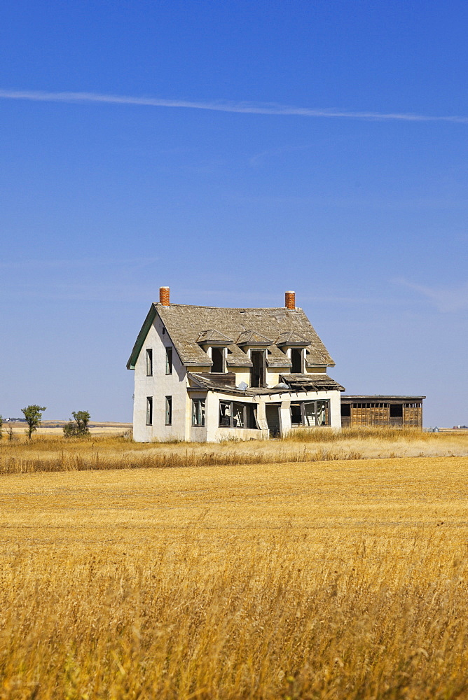 House in Ceylon on Highway 377, Saskatchewan, Canada