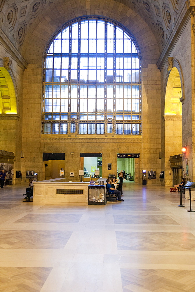 People at Union Station in Toronto, Canada