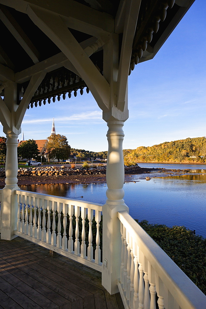 View of Mahone Bay from porch, Nova Scotia, Canada