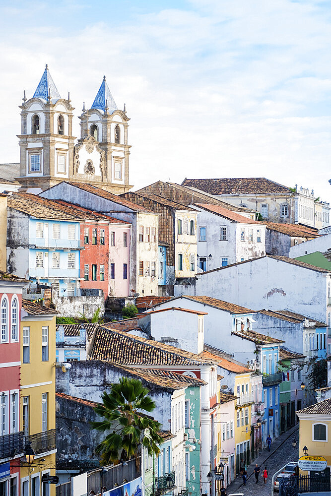 View of the historical centre of Salvador, UNESCO World Heritage Site, Bahia, Brazil, South America - 1176-1082