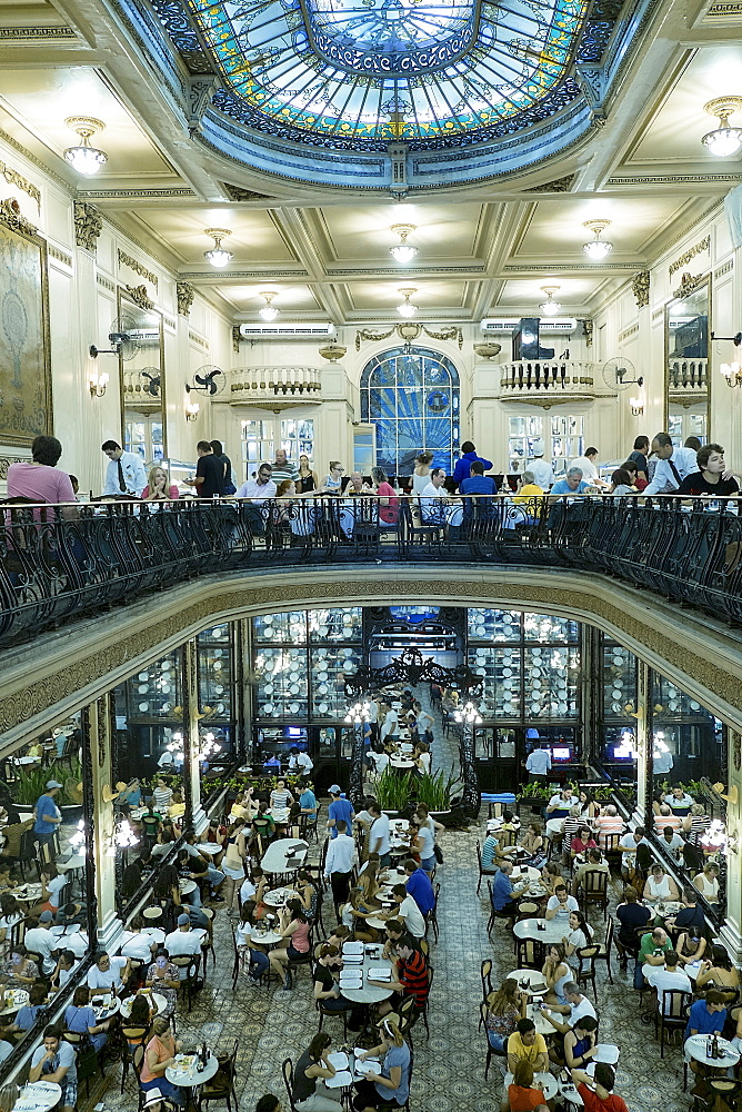 Confeiteria Colombo, historic and traditional Portuguese art nouveau cafe in the city centre, Rio de Janeiro, Brazil, South America