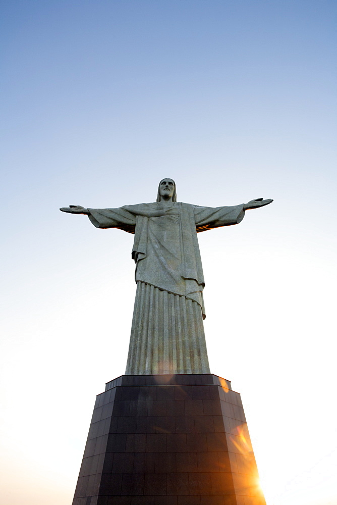 The Cristo Redentor (Christ the Redeemer) statue on Corcovado, Rio de Janeiro, Brazil, South America
