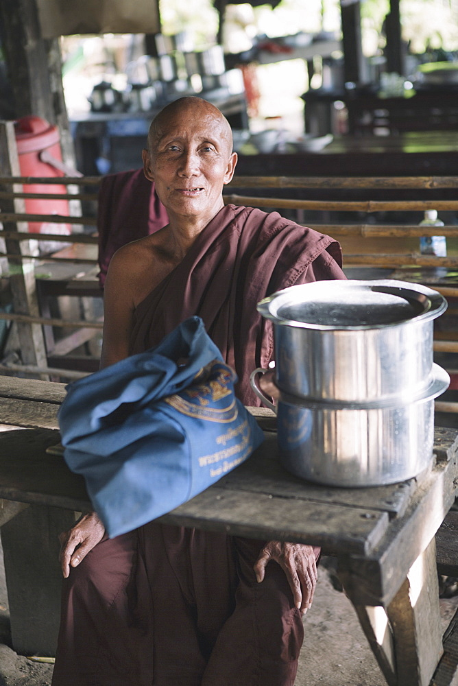 Local man, Mandalay, Sagaing, Myanmar, Southeast Asia