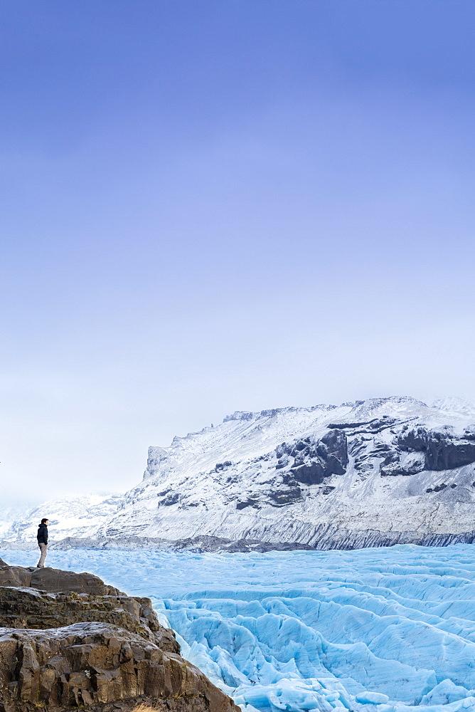 Vatnajokull glacier near Skalafell, Iceland, Polar Regions