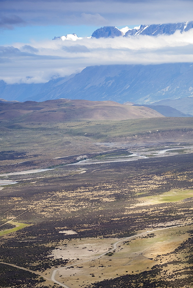 View of the Patagonian steppe, Torres del Paine National Park, Patagonia, Chile, South America
