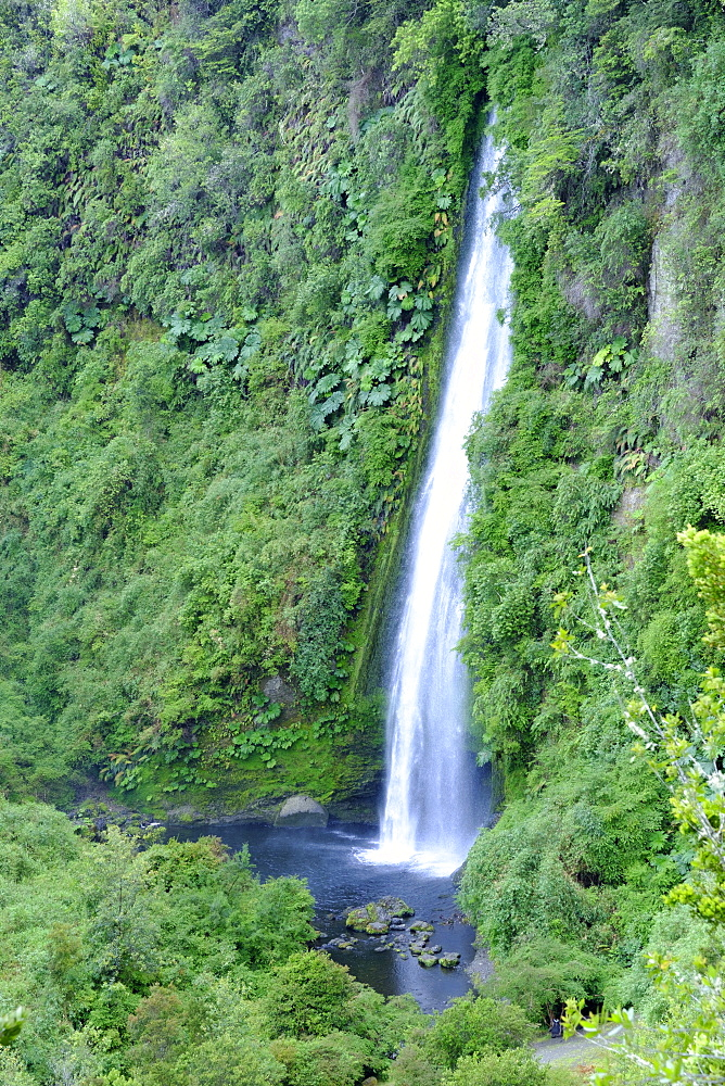 A waterfall on Chiloe island, Northern Patagonia