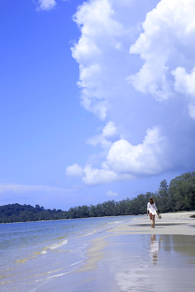 Beach in Ream National Park, Sihanoukville, Cambodia, Indochina, Southeast Asia, Asia - 1176-677