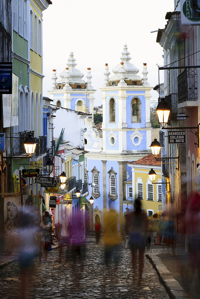 The Pelourinho area in the historical centre of Salvador, UNESCO World Heritage Site, Bahia, Brazil, South America