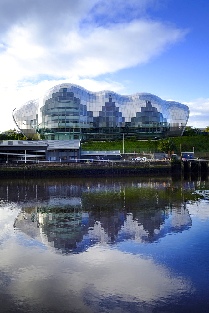 View of the Sage Concert Hall and Arts Centre in Gateshead on the River Tyne, Gateshead, Tyne and Wear, England, United Kingdom, Europe - 1176-799