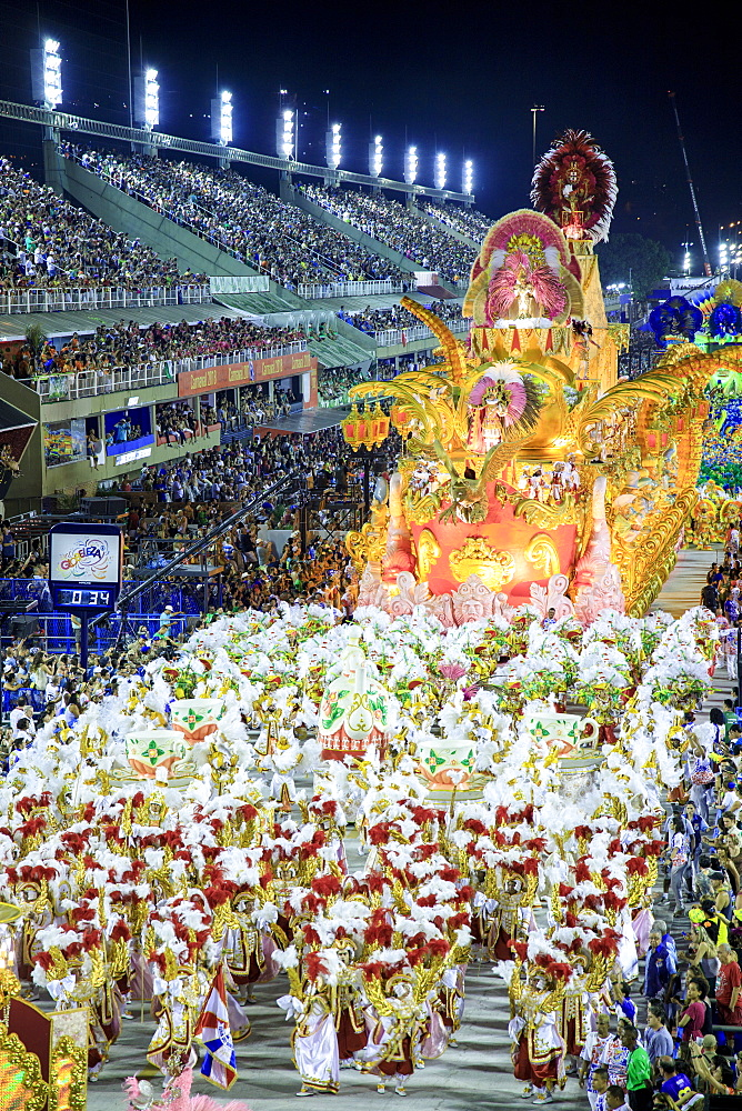 Dancers at the main Rio de Janeiro Carnival parade in the Sambadrome (Sambodromo) arena, Rio de Janeiro, Brazil, South America - 1176-904
