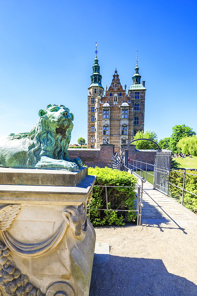 Rosenborg Castle built in the Dutch Renaissance style, Copenhagen, Denmark, Europe - 1179-2430