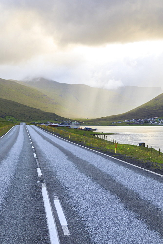 Road to Hvalvik, Streymoy Island, Faroe Islands, Denmark, Europe