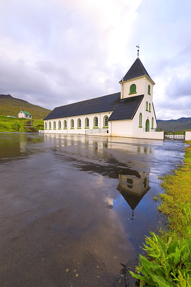 Church of Nordskali, Eysturoy island, Faroe Islands, Denmark