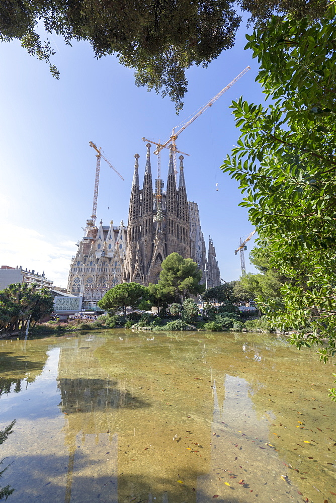 Sagrada Familia Cathedral, UNESCO World Heritage Site, Barcelona, Catalonia, Spain, Europe