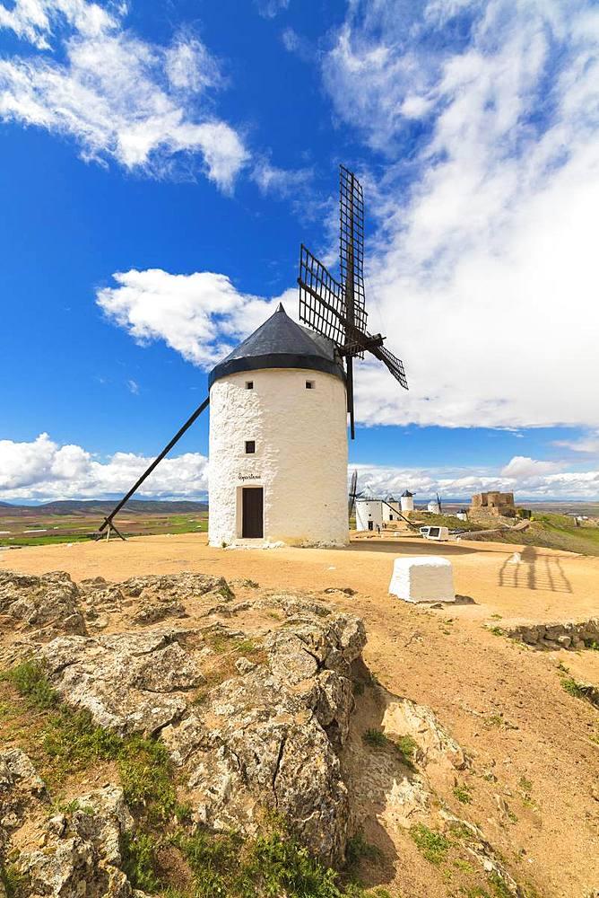 Windmills of Consuegra, Don Quixote route, Toledo province, Castilla-La Mancha (New Castile) region, Spain, Europe - 1179-3401