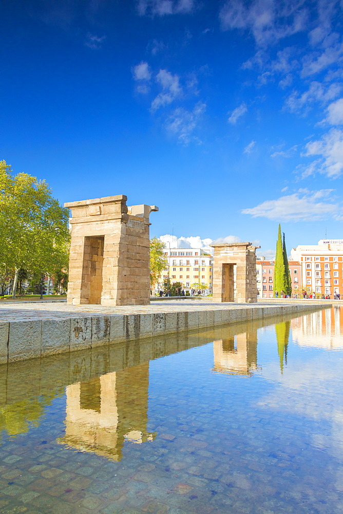Egyptian Temple of Debod (Templo de Debod), Parque del Oeste, Madrid, Spain, Europe