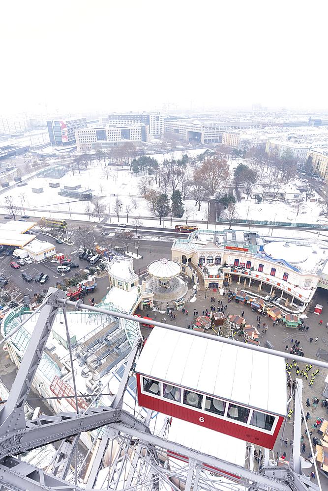 Ferris wheel of Prater Amusement Park, Vienna, Austria, Europe