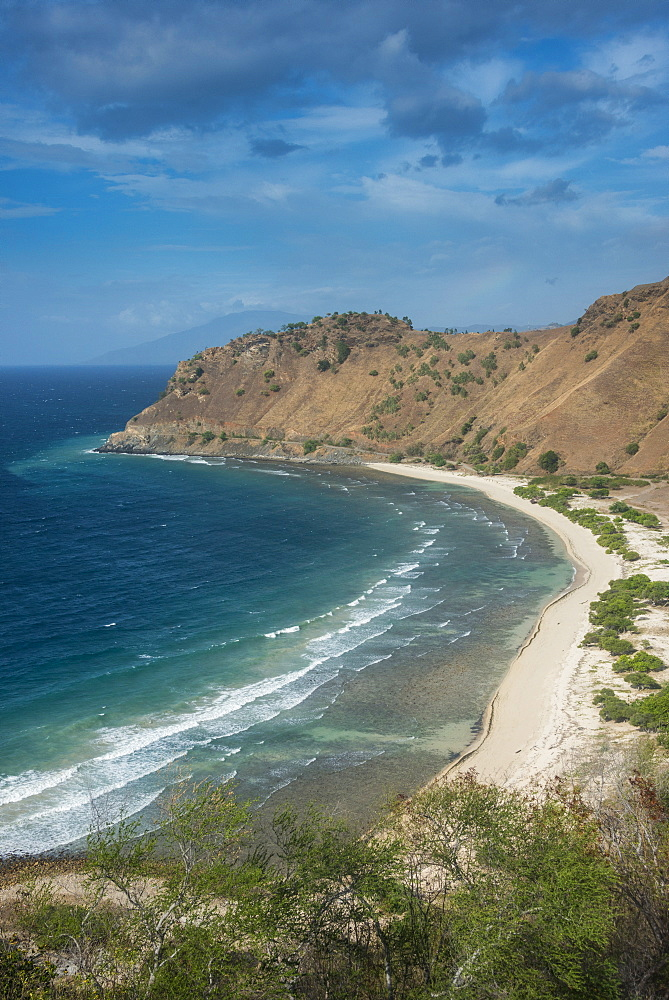 Beach below Cristo Rei of Dili statue, Dili capital of, East Timor