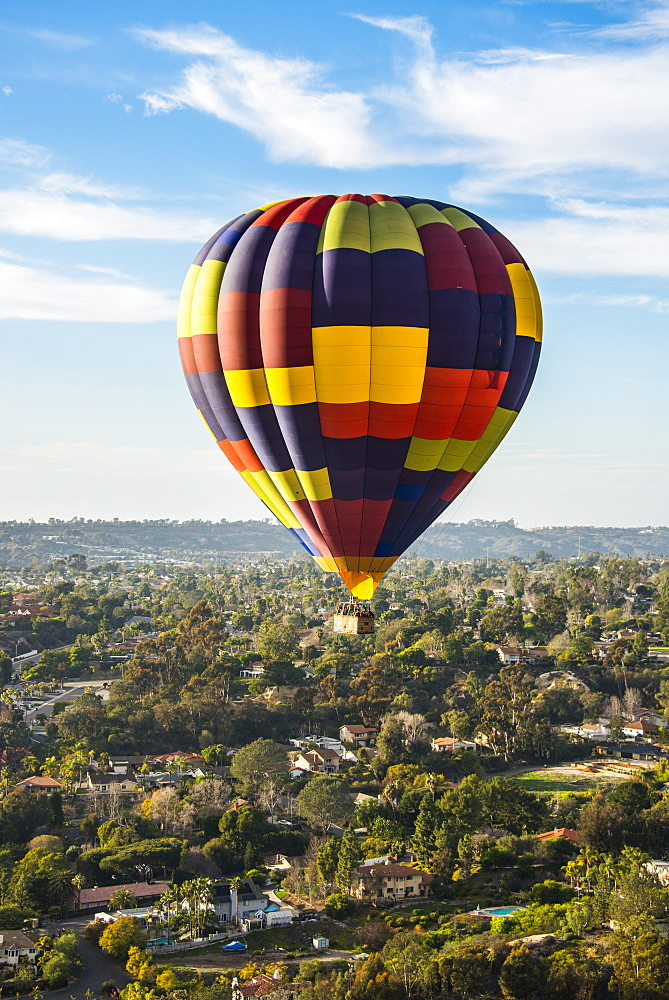 Hot air balloon, Encinitas, California, United States of America, North America