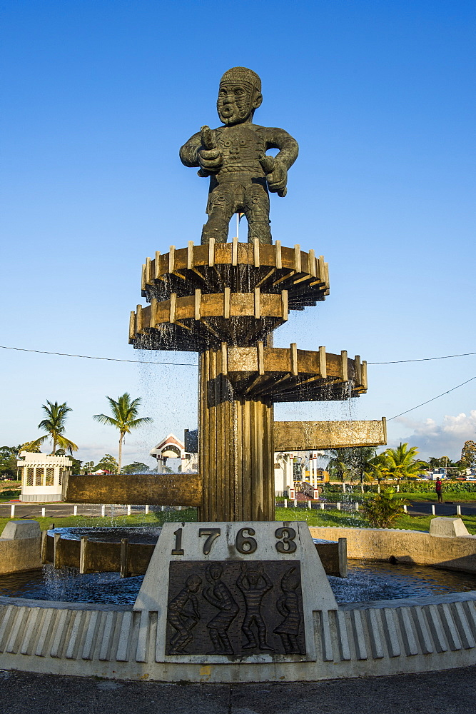 Cuffy Monument of the revolution of 1763, Georgetown, Guyana, South America