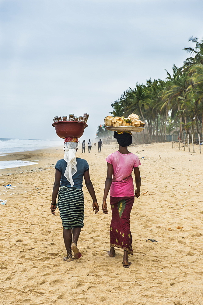 Local women, Grand Bassam, Ivory Coast, West Africa, Africa