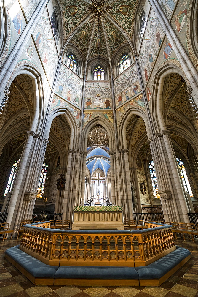 Interior of the Uppsala Cathedral, the largest church in Sweden, Uppsala, Sweden, Scandinavia, Europe