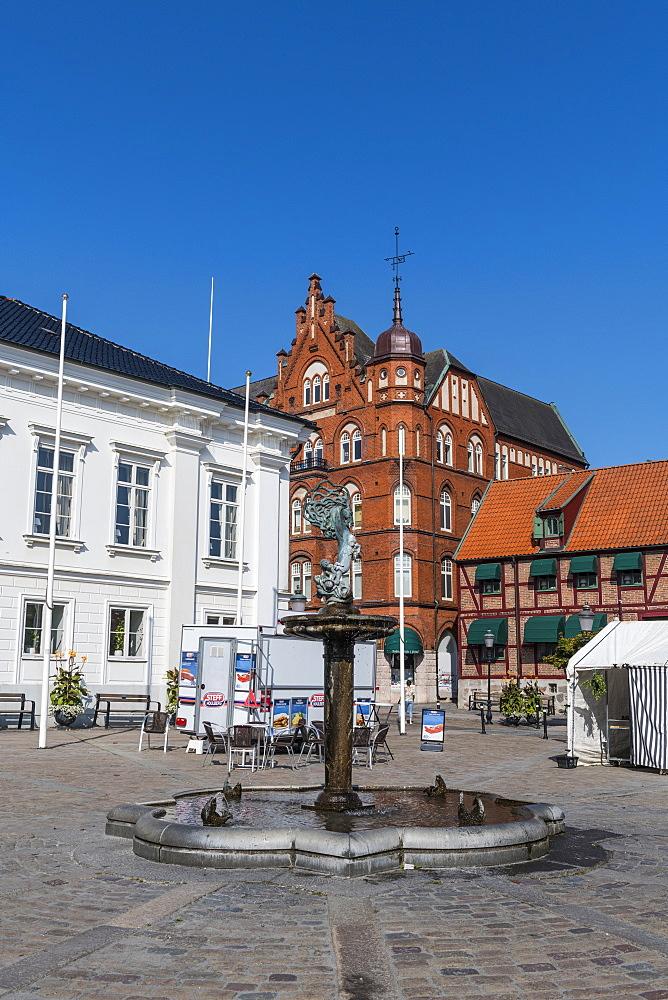 Historic town of Ystad, Sweden